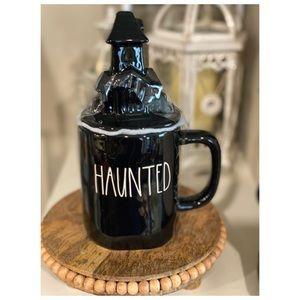 Rae Dunn Halloween Haunted House Mug with Topper